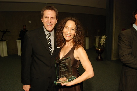 Stanley Holden Award for Distinguished Teaching recipient Terri Best, at LADI 9 with executive producer Howard Ibach